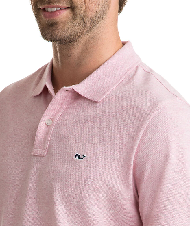 Stretch Pique Heather Polo