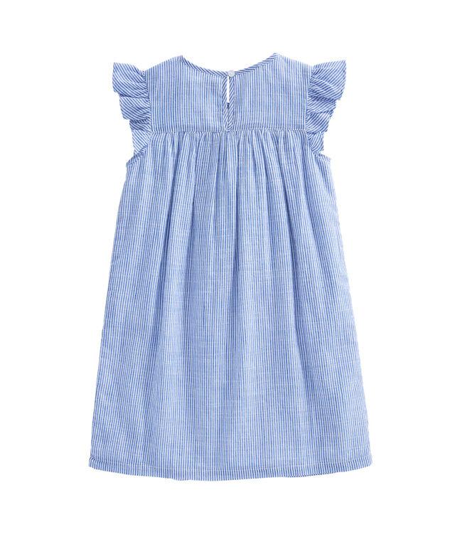 Girls Embroidered Flutter Sleeve Dress
