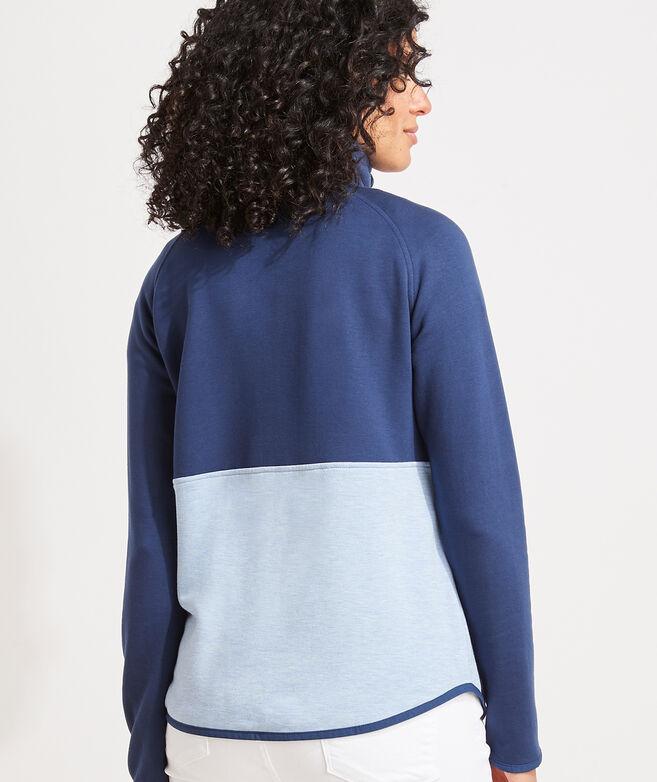 Dreamcloth Color-Blocked Half-Zip Shep Shirt