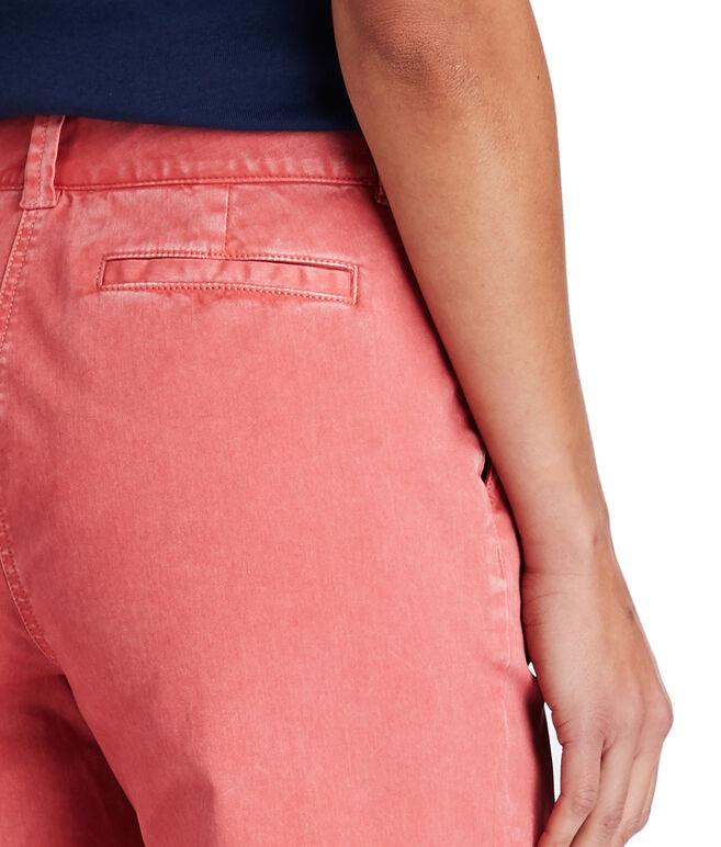 High Waist Cropped Chino Pants