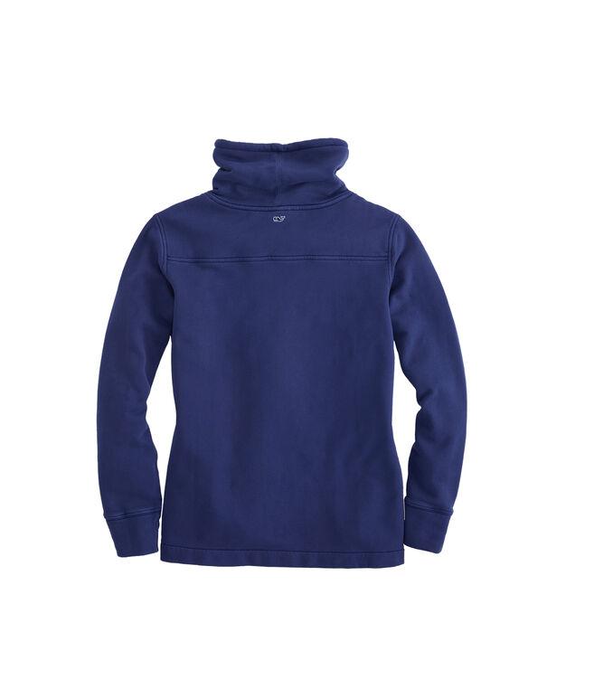 Garment Dyed Relaxed Funnel Neck Shep Shirt