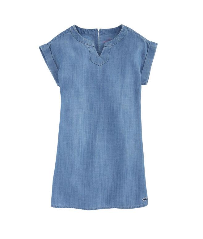 Girls Chambray Tunic Dress