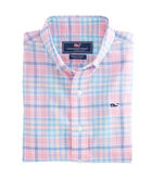 Boys Beach Plum Plaid Whale Shirt