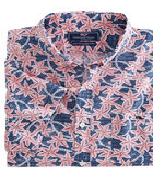 Batik Floral Short-Sleeve Slim Tucker