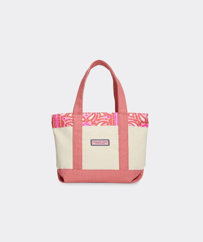 Island Scarf Print Mini Tote Bag