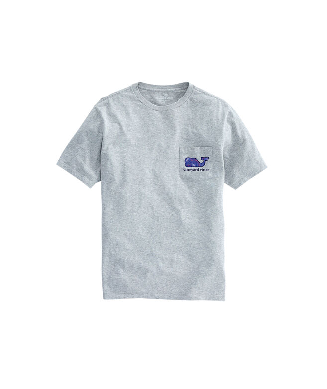 OUTLET Men's Lobster and Buoy Whale Fill Short Sleeve Pocket Tee