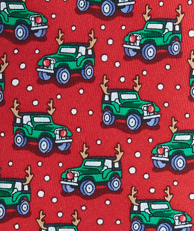 Boys Truck With Antlers Tie