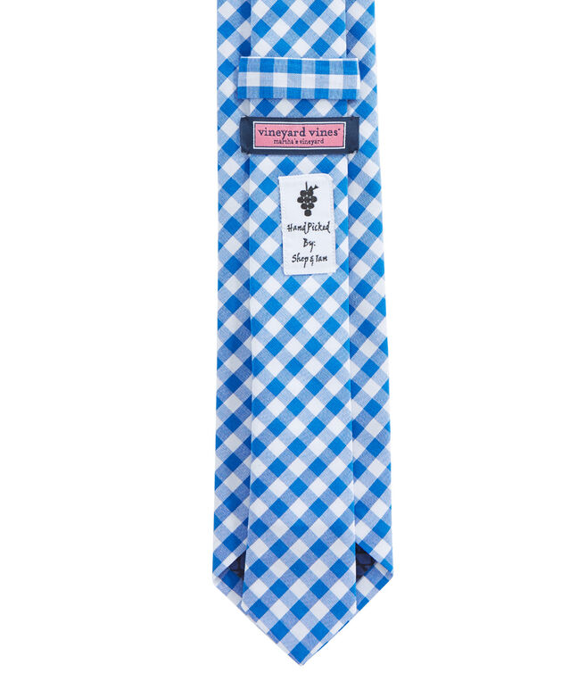 Kennedy Gingham Shirting Skinny Tie