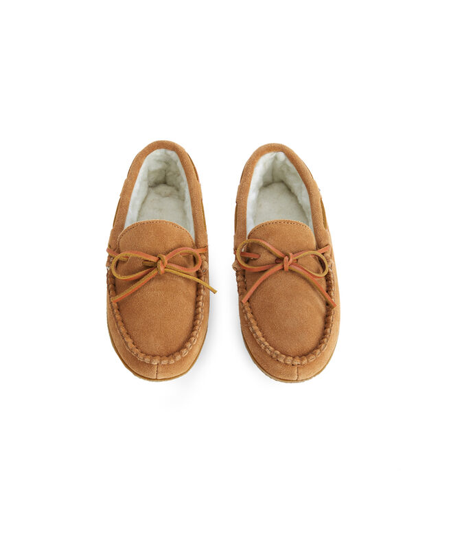 Boys Natural Suede Slippers