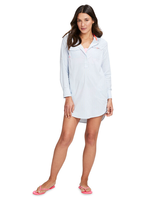 Hooded Harbor Shirt Cover-Up