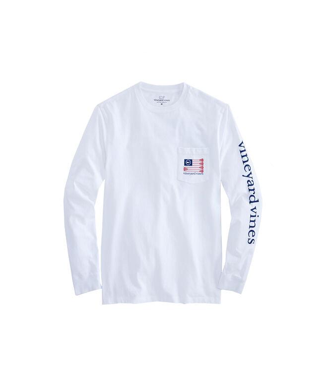Long-Sleeve Lacrosse Flag Pocket T-Shirt