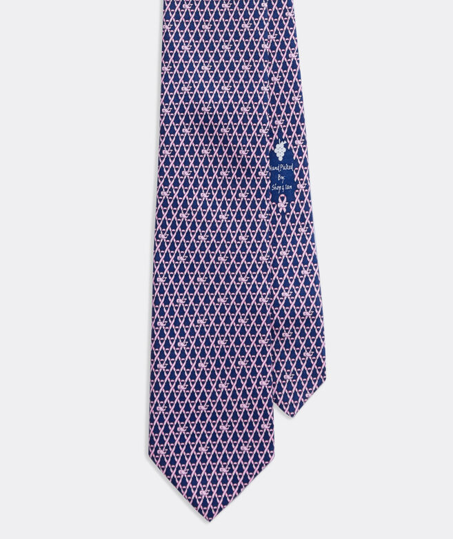 Limited-Edition Breast Cancer Awareness Geo Printed Tie