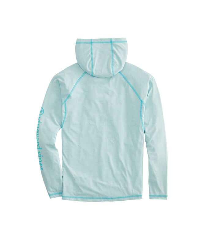 Space-dye Fishing Long-Sleeve Hoodie Performance Tee
