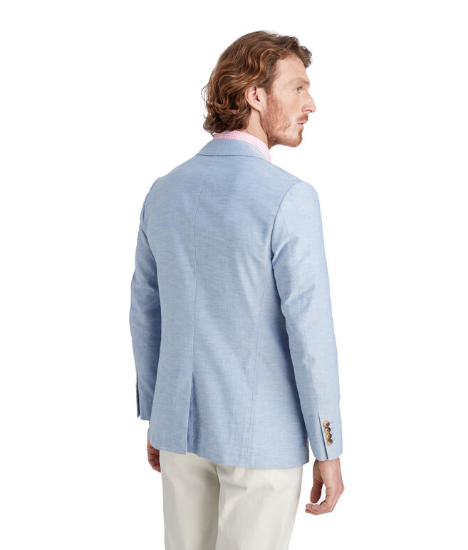Unconstructed Chambray Blazer