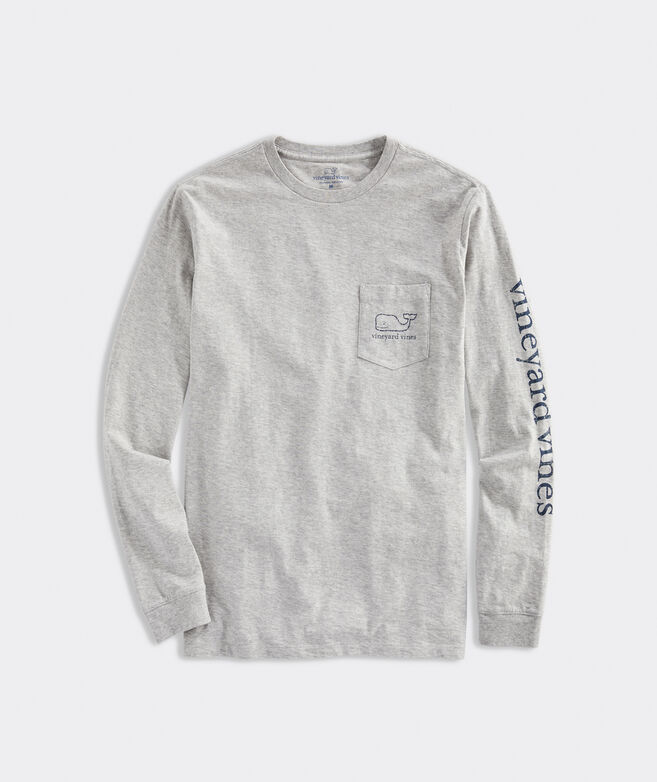 Vintage Whale Long-Sleeve Pocket Tee