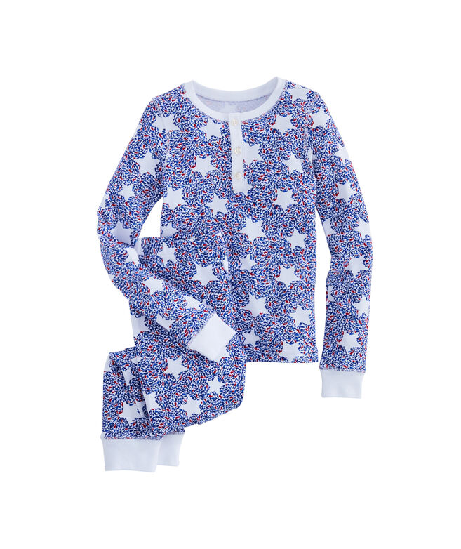 Girls Stars & Whales Long-Sleeve Lounge Set