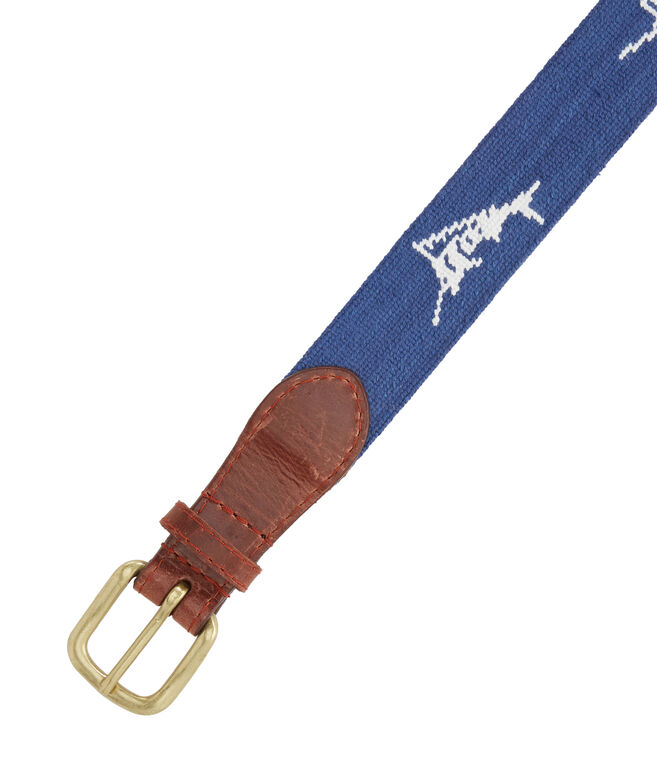 vineyard vines x Smathers & Branson Billfish Needlepoint Belt