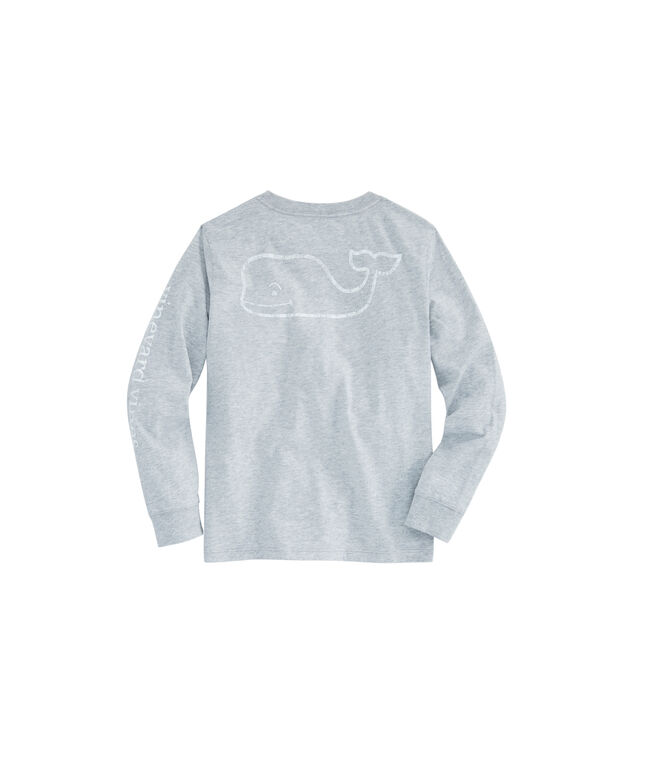 Boys Long-Sleeve Glow In The Dark Vintage Whale Pocket T-Shirt