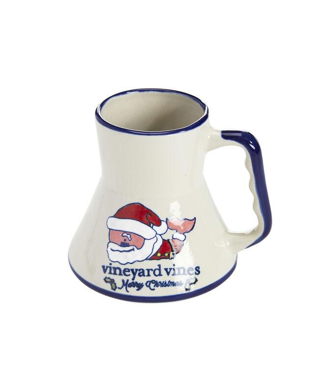 Stoneware Santa Whale Sailing Mug
