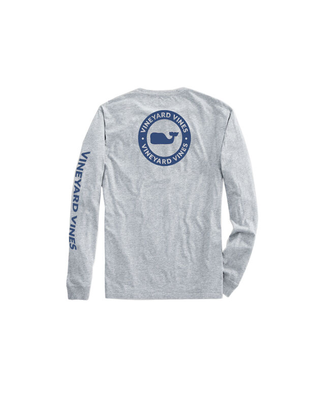 OUTLET Men's Whale Dot Long-Sleeve Pocket Tee