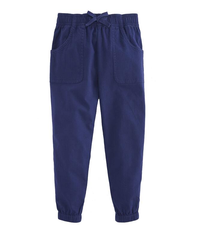 Girls Garment Overdyed Pull On Pants
