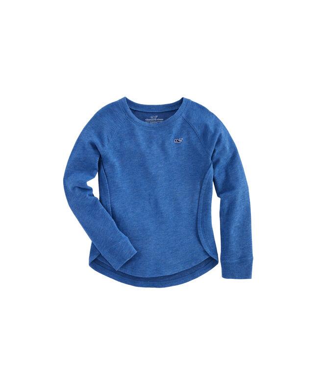 Girls Long-Sleeve Heather Whale Cozy Shirt