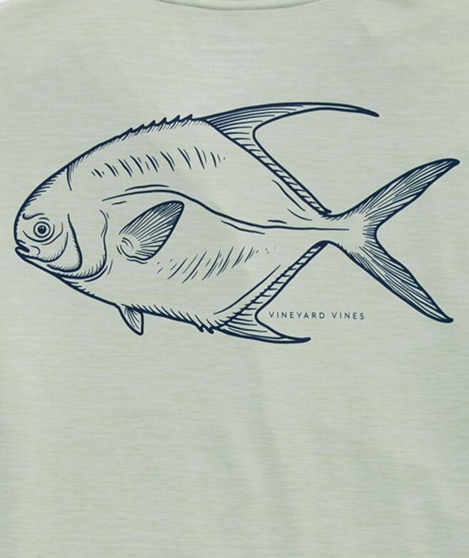 Permit Fish Long-Sleeve Harbor Performance Tee