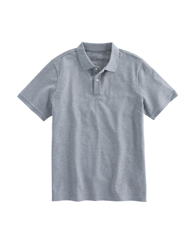Mens Stretch Pique Heather Polo