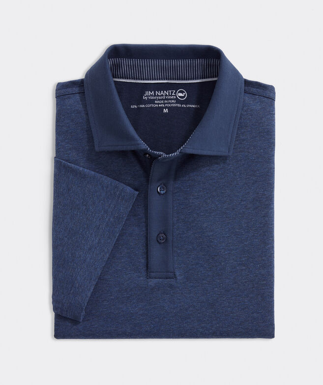 Heathered Solid Polo