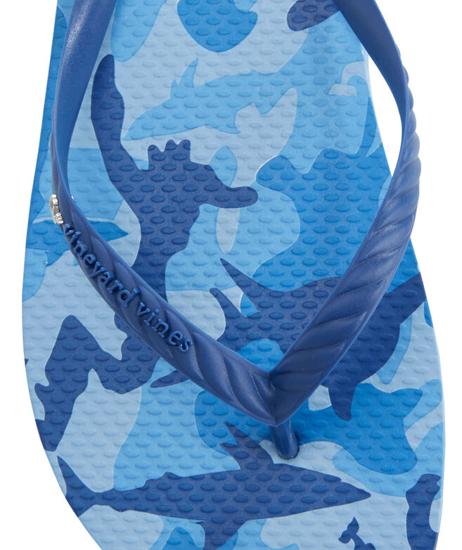 Womens Shark Week Printed Flip Flops