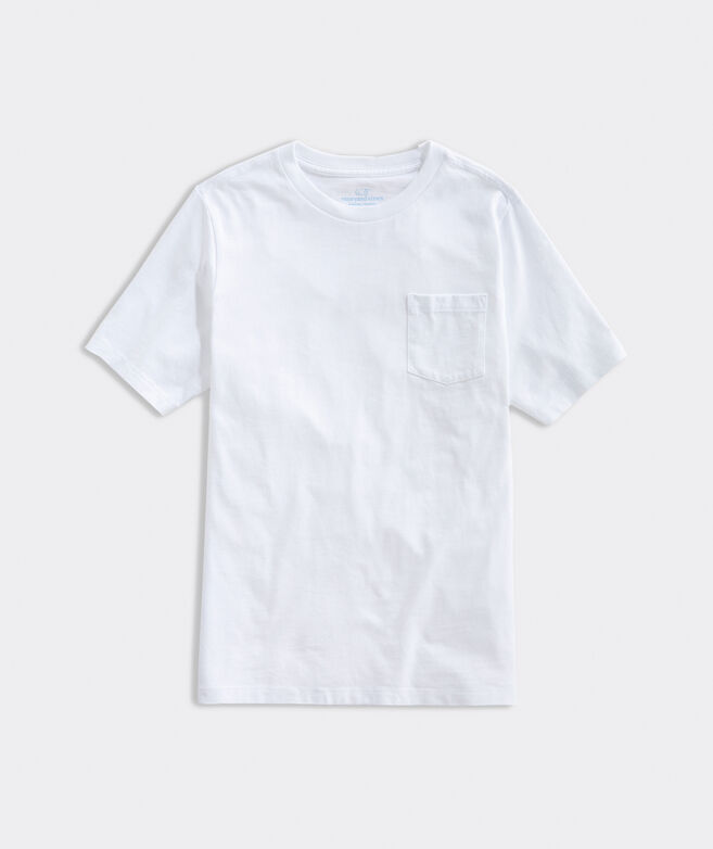 Boys Short-Sleeve Blank Pocket Tee
