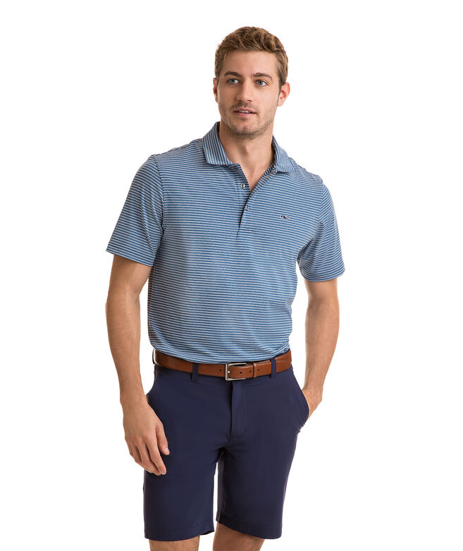 Heathered Wilson Stripe Sankaty Performance Polo