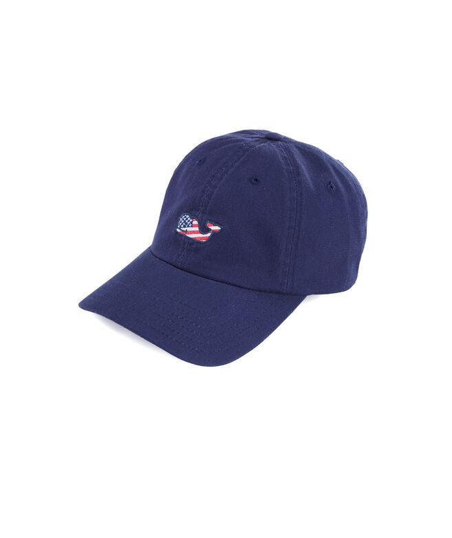 Boys Flag Whale Baseball Hat
