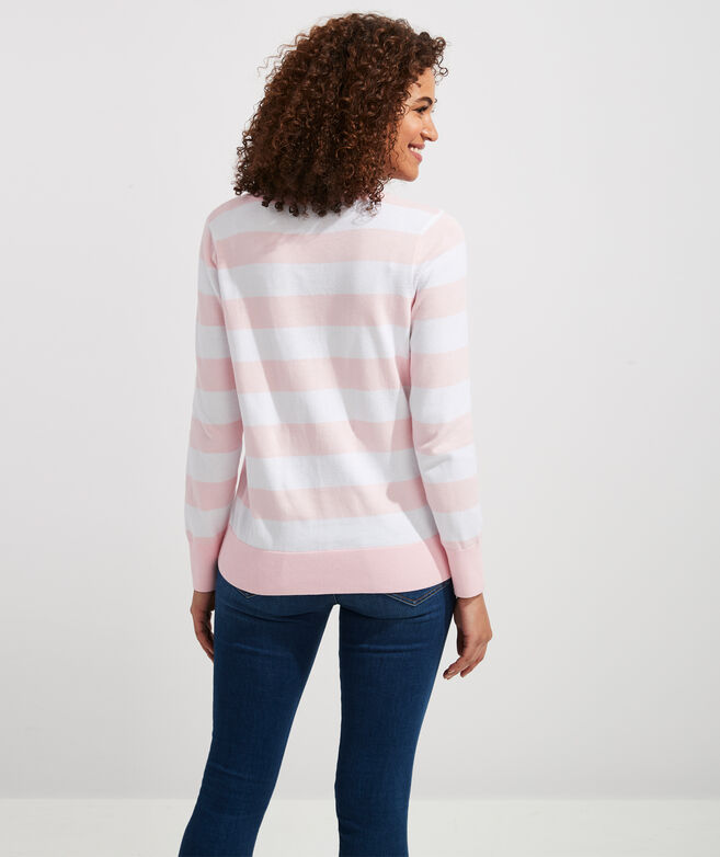 Heritage Cotton V-Neck Sweater