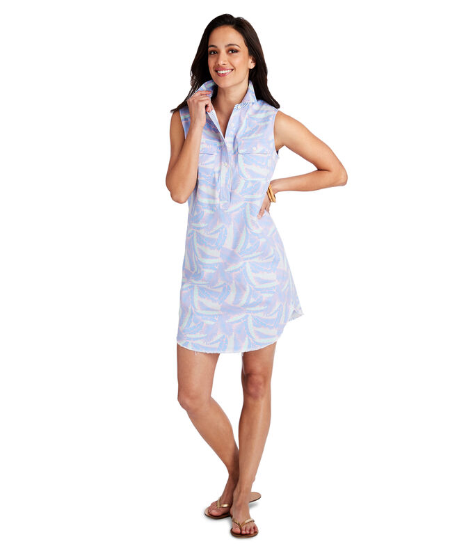 Island Palm Margo Shirt Dress