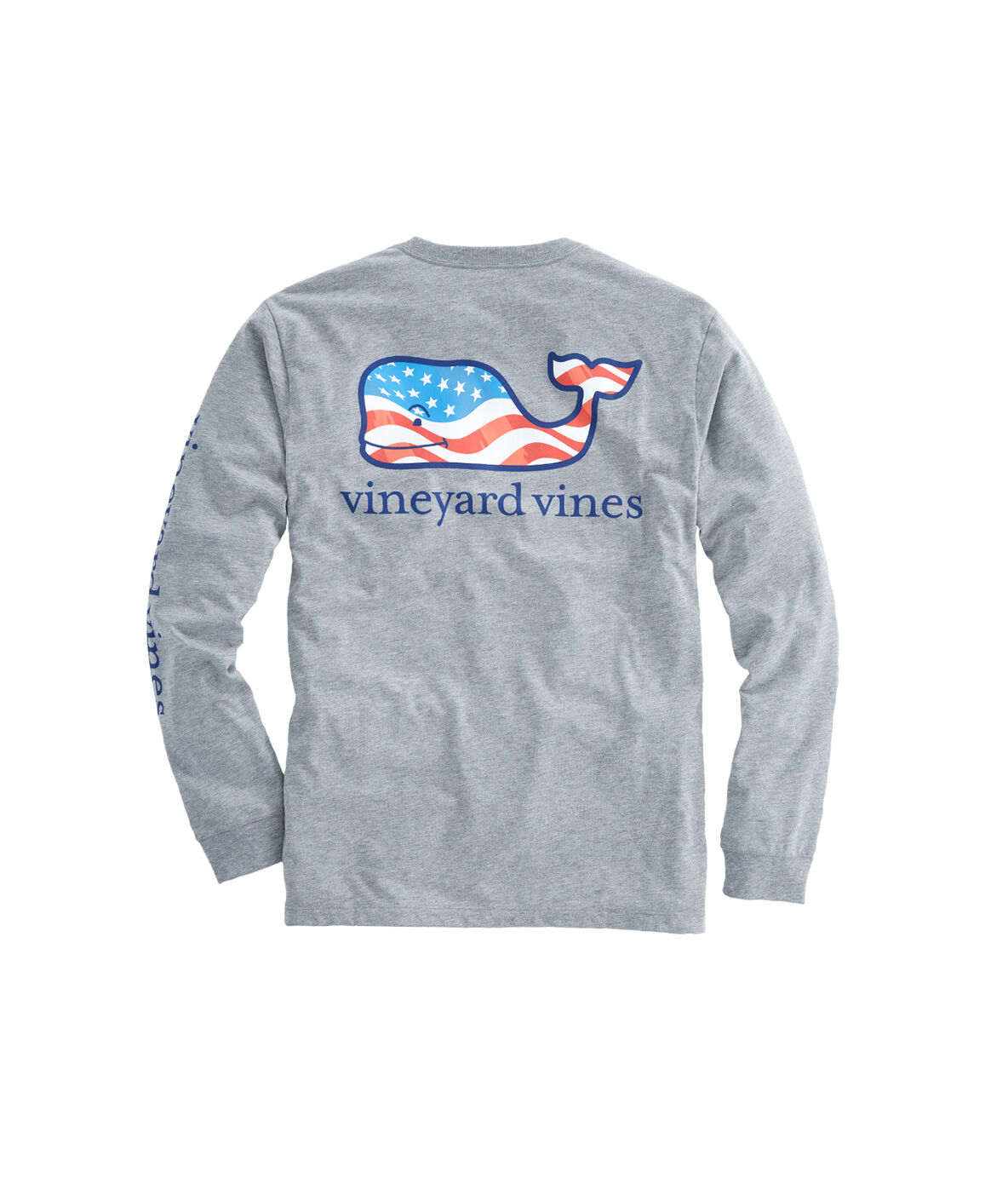 Black t shirt front and back plain - Long Sleeve Waving Flag Whale Fill Pocket T Shirt
