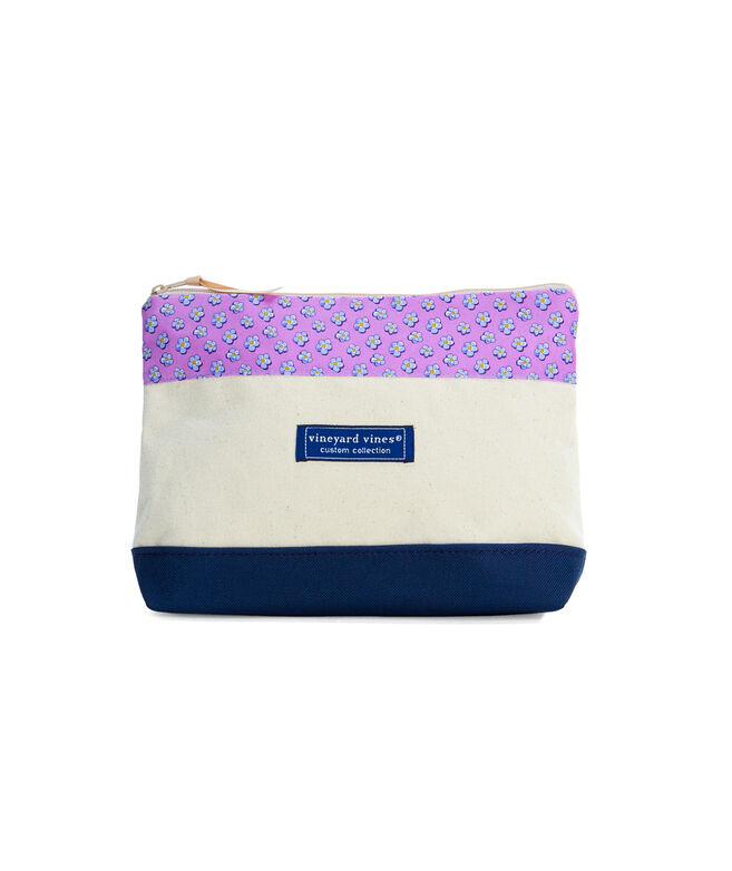 Jim Nantz Forget-Me-Knot Cosmetic Case
