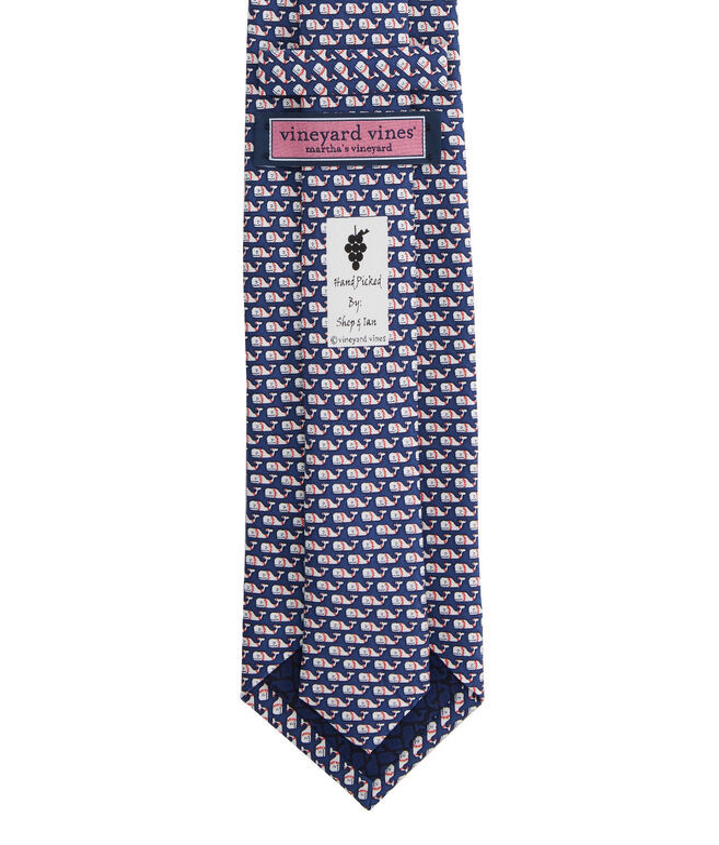 Baseball Whale Tie