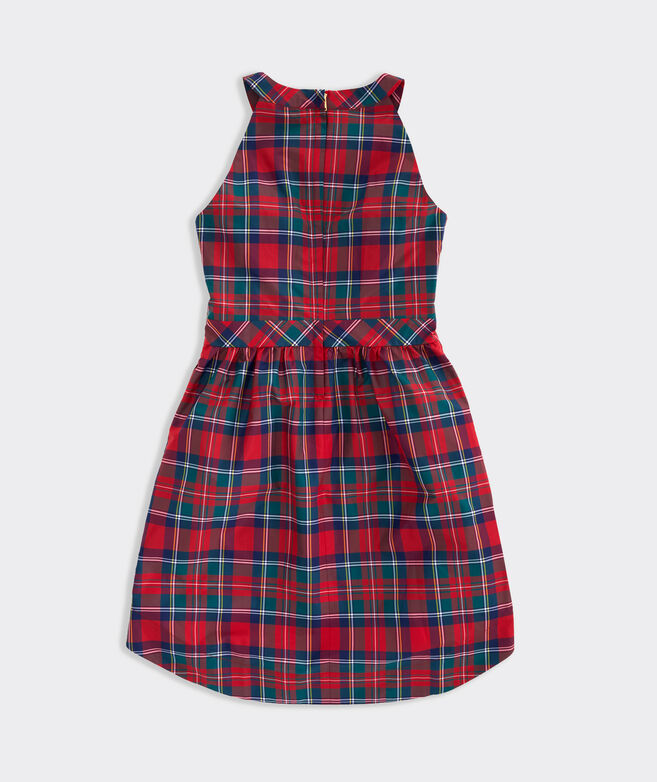 Merry Plaid Taffeta Party Dress