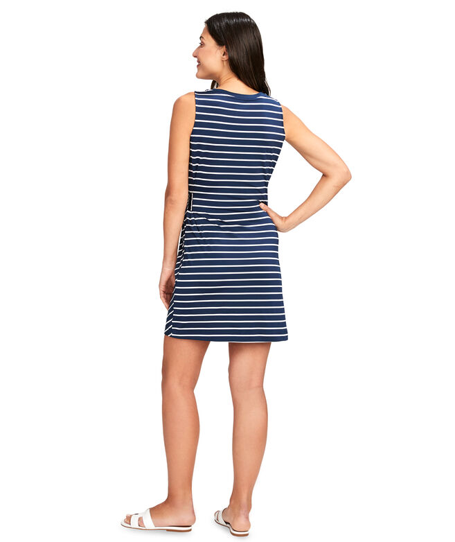 Stripe Sankaty Side Tie Tank Dress