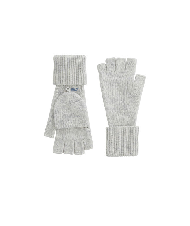 Womens Solid Fold-Over Gloves