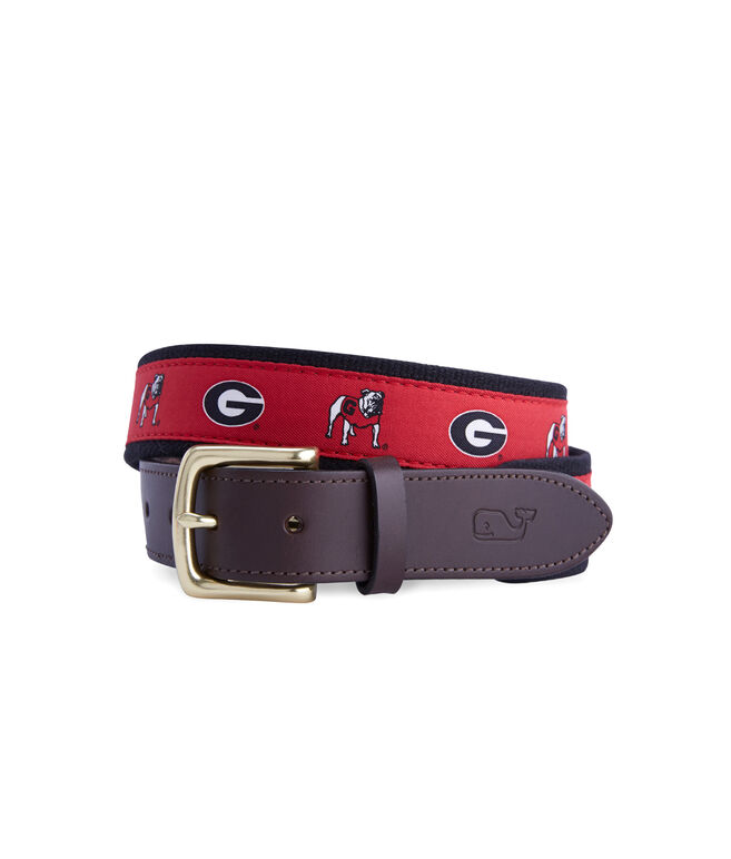University of Georgia Canvas Club Belt