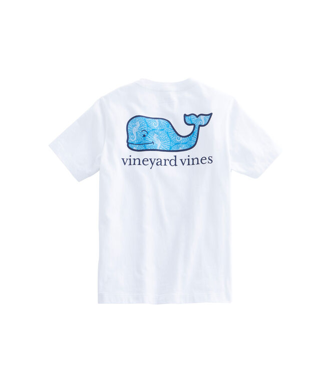 Boys Short-Sleeve Seahorse Whale Fill Pocket T-Shirt