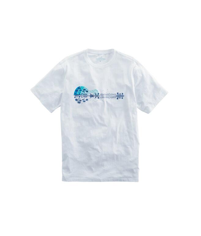 Guitar Sunset Pocket T-Shirt