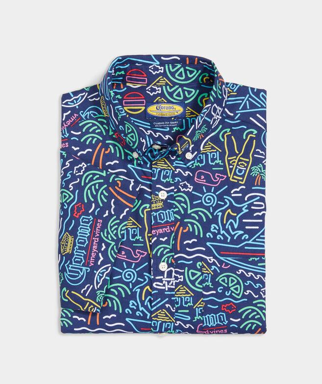 Corona® x vineyard vines Short-Sleeve Stretch Cotton Shirt