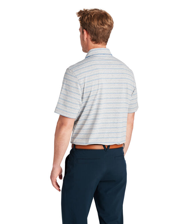 Heathered Port Stripe Sankaty Performance Polo