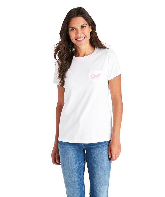 2019 Breast Cancer Awareness Ribbon Short-Sleeve Pocket Tee