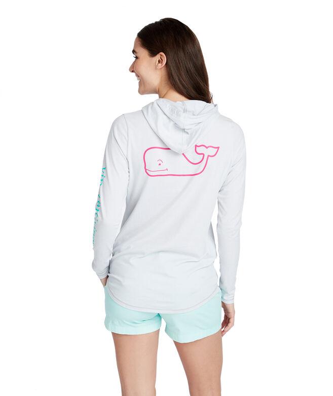 Long-Sleeve Edgartown Tri-Color Vintage Whale Hoodie Tee