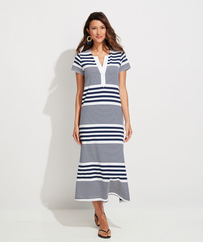 Edgartown Notch Neck Striped Maxi Dress