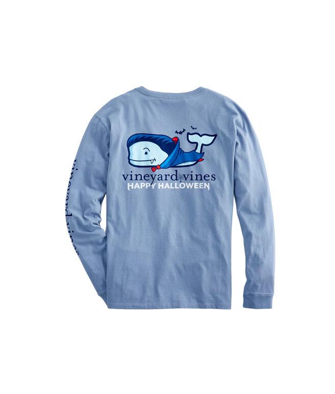 Long-Sleeve Vampire Whale Pocket T-Shirt